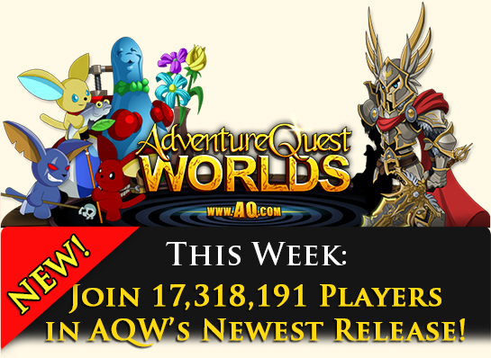 New game release in online mmorpg Adventure Quest Worlds