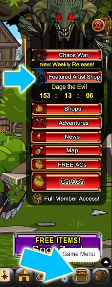 How to get Dage the Evil's items in online adventure game