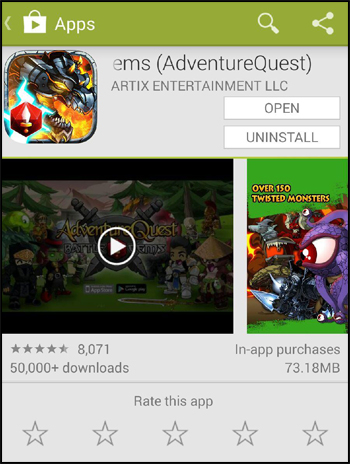Battle Gems new RPG mobile game on Android Google Play