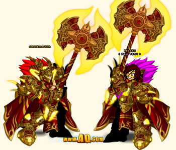 Blood Lord armor set in online game