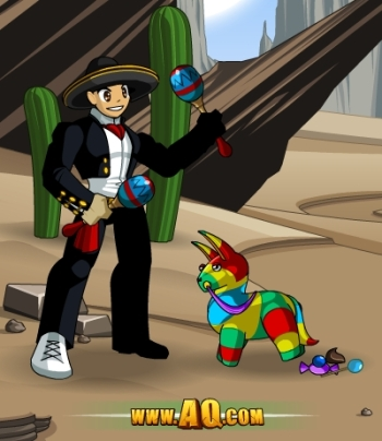 Fiesta in AQW for Cinco de Mayo!