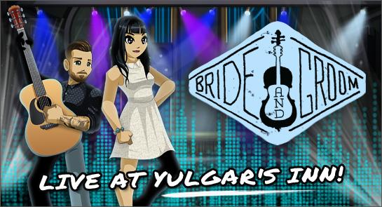 bride and groom folk indie band