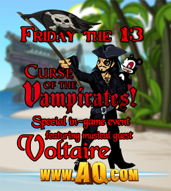 Friday the 13th and Talk Like a Pirate Day in online adventure game AdventureQuest Worlds