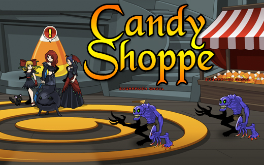 Happy Holloween video game event Candy Shoppe
