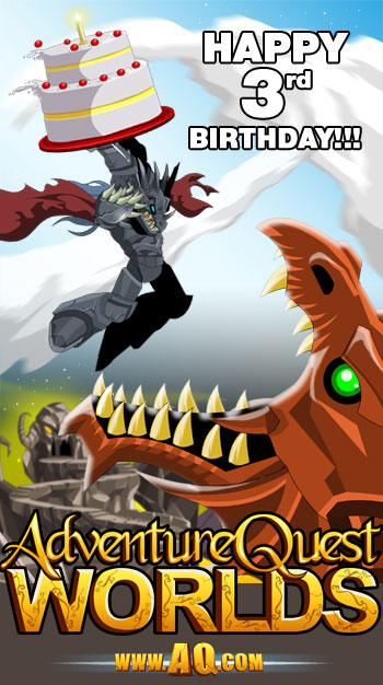 Happy 3rd Birthday AQWorlds!