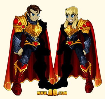 Hero of Steel Armor in flash game AdventureQuest Worlds