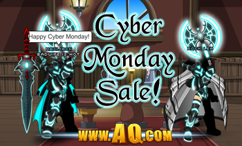 Cyber Monday in video game AdventureQuest Worlds