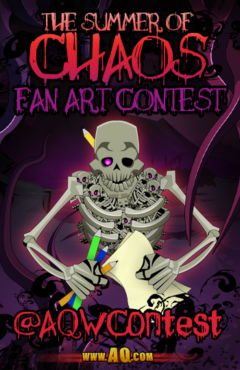 summer of chaos fan art contest in free mmo adventurequest worlds