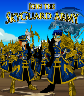 Skyguard Army in online fantasy game