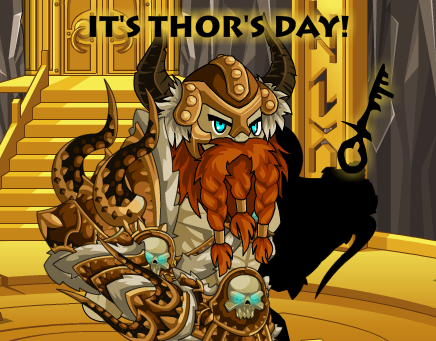 Thor's Day in online adventure video game