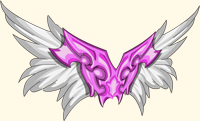 Pink and White Wings for your back Beleen