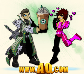 Starbucks spoof AdventureBucks Coffee Beleen and Zoshi