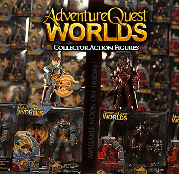 AdventureQuest Worlds Collector Action Figures