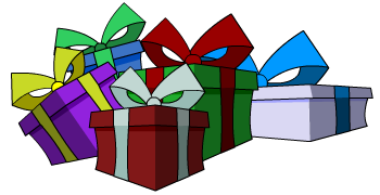 Free christmas presents in a fantasy mmo rpg game