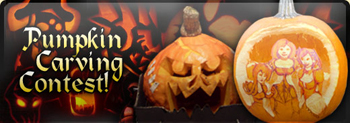 Pumpkin Carving Contest in video game AdventureQuest Worlds