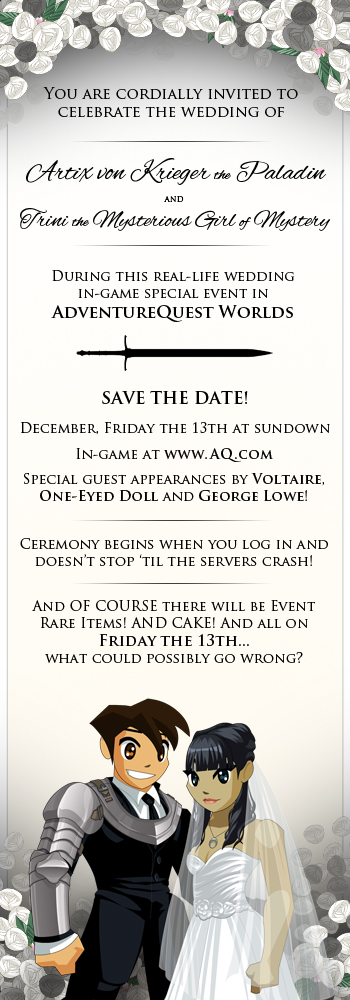 Artix Wedding Invite Friday the 13