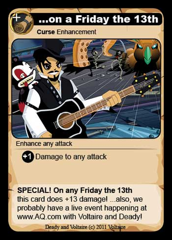 Friday the 13th AQWorlds Card