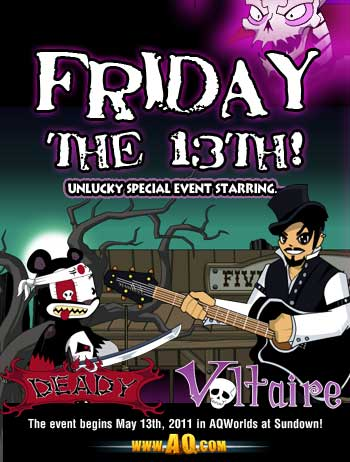 Friday the 13th Event with Voltaire