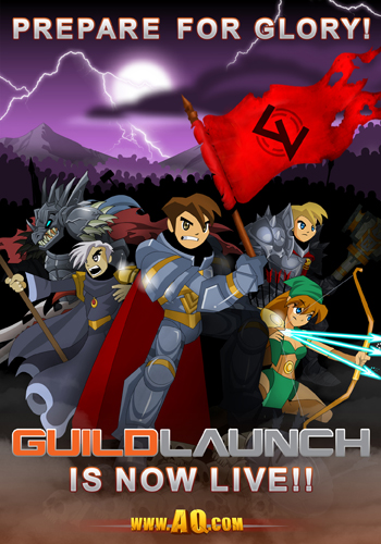 Guild Launch AdventureQuest Worlds new release