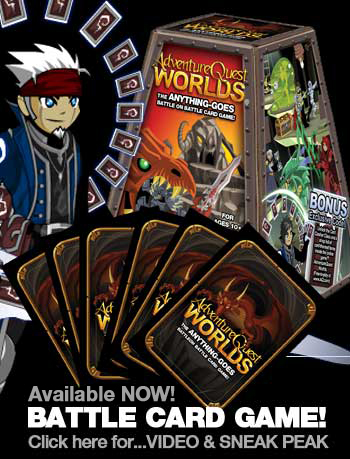 AdventureQuest Worlds BattleOn Battle Cards Available Now