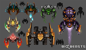 BioBeasts_Free_Mobile_Single_Player_Offline_Arcade_Survival_Sci_Fi_Beasts_Robots_Game_Charfade_beast_concepts