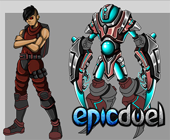 EpicDuel_Browser_PVP_MMO_Theon_Artist_Showcase_Preview_NPCs