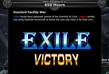 Exiles Win Overlord War