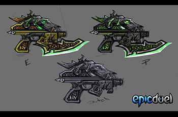 Celtic Stag Guns